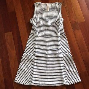 Jcrew striped ponte sleeveless dress
